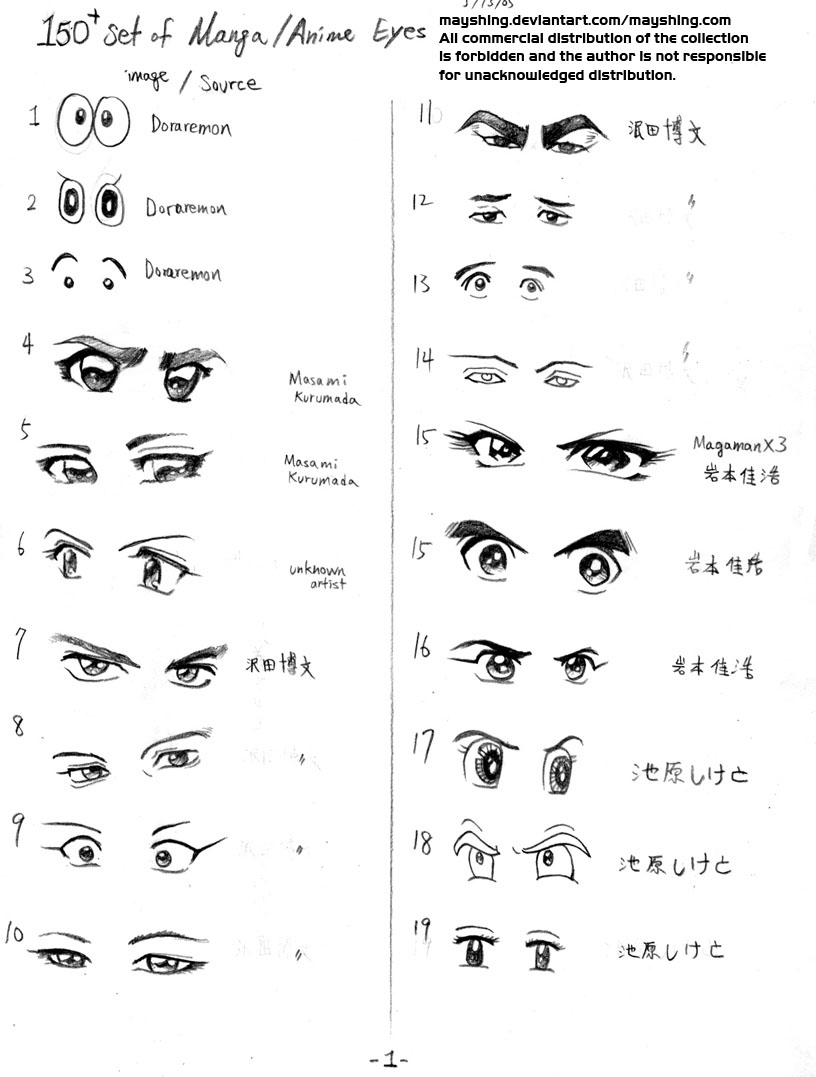 Anime Manga Eyes Collection
